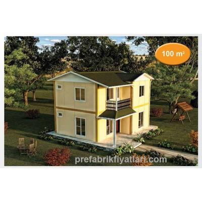 100 m² Prefabrik Ev Dublex 3+1 (BALKONLU)