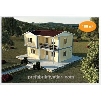 108 m² Prefabrik Ev Dublex 3+1 (BALKONLU)