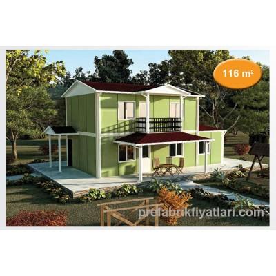 116 m² Prefabrik Ev Dublex 3+1 (BALKONLU)