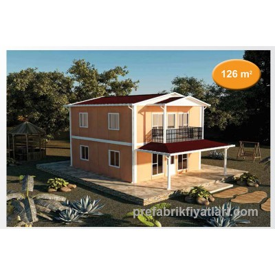 126 m² Prefabrik Ev Dublex 3+1 (BALKONLU)