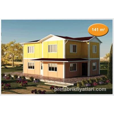 141 m² Prefabrik Ev Dublex 4+1 (BALKONLU)
