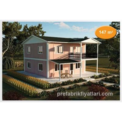 147 m² Prefabrik Ev Dublex 4+1 (BALKONLU)