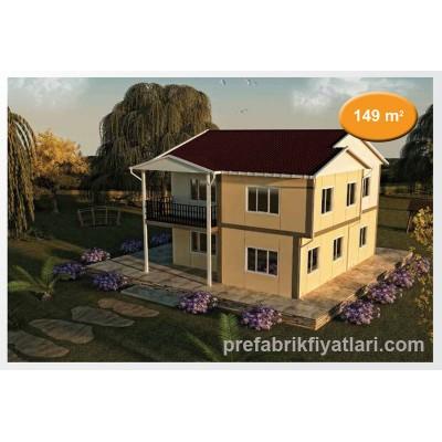 149 m² Prefabrik Ev Dublex 4+1 (BALKONLU)