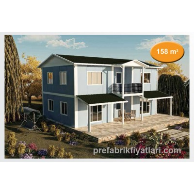 158 m² Prefabrik Ev Dublex 3+1 (BALKONLU)