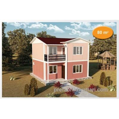 80 m² Prefabrik Ev 2+1 (BALKONLU)